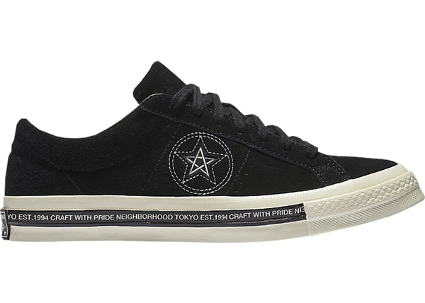 132f18acd84318 Converse One Star 74 Ox Neighborhood Black - 158601C-001