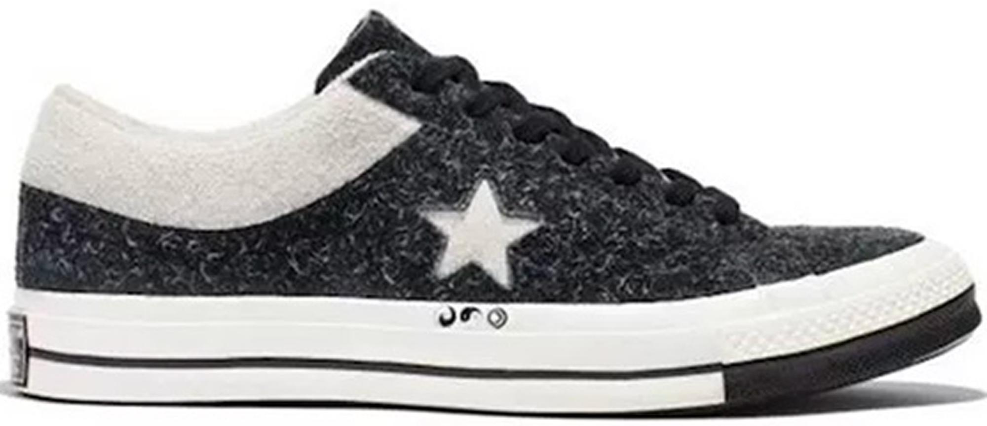 Converse One Star Ox Clot Black White