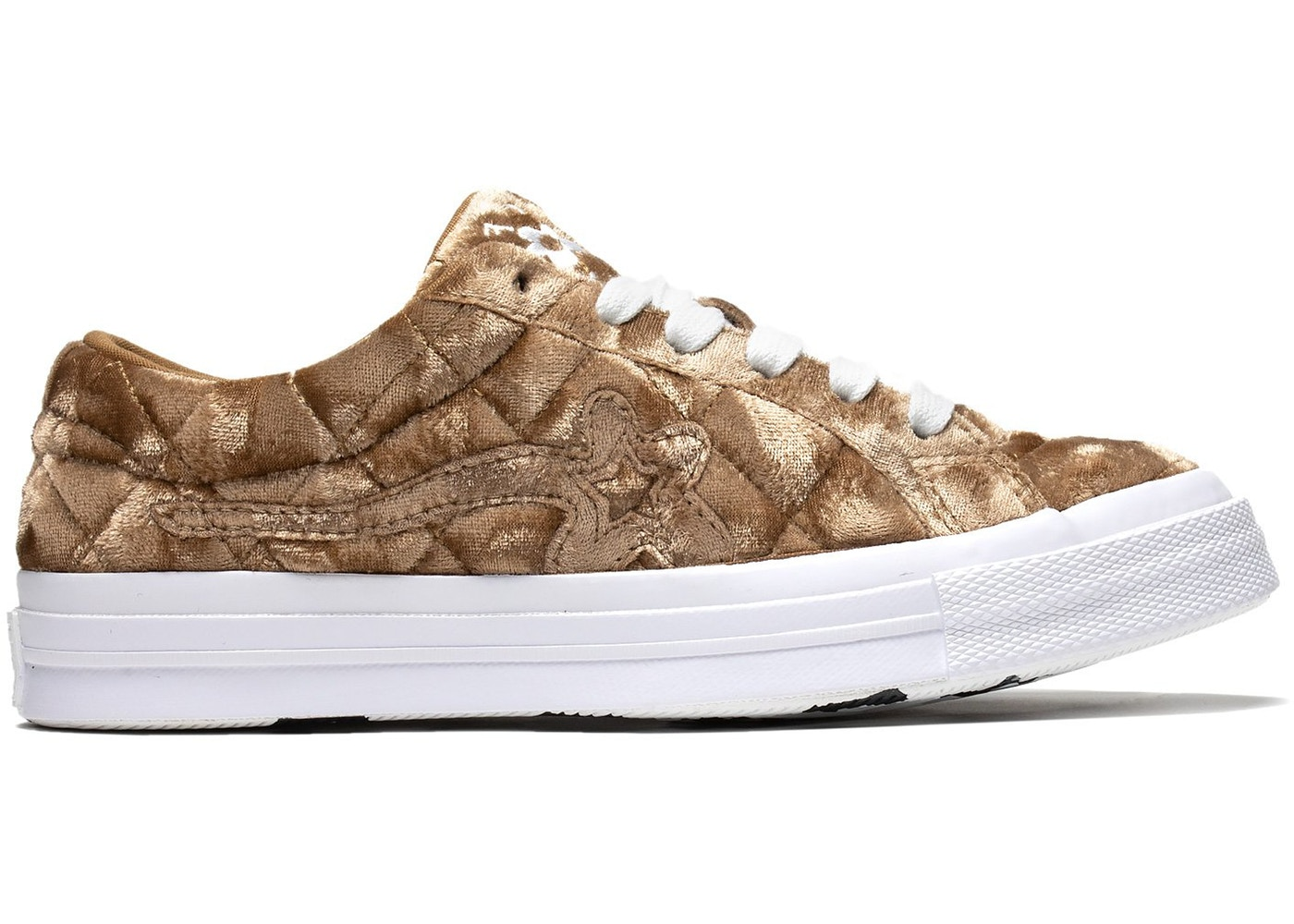 a49356a8c6d Converse One Star Ox Golf Le Fleur TTC Quilted Velvet Brown Sugar - 165599C