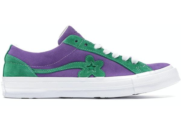 886eabff3ad7 Converse One Star Ox Tyler the Creator Golf Le Fleur Purple Green - 162128C