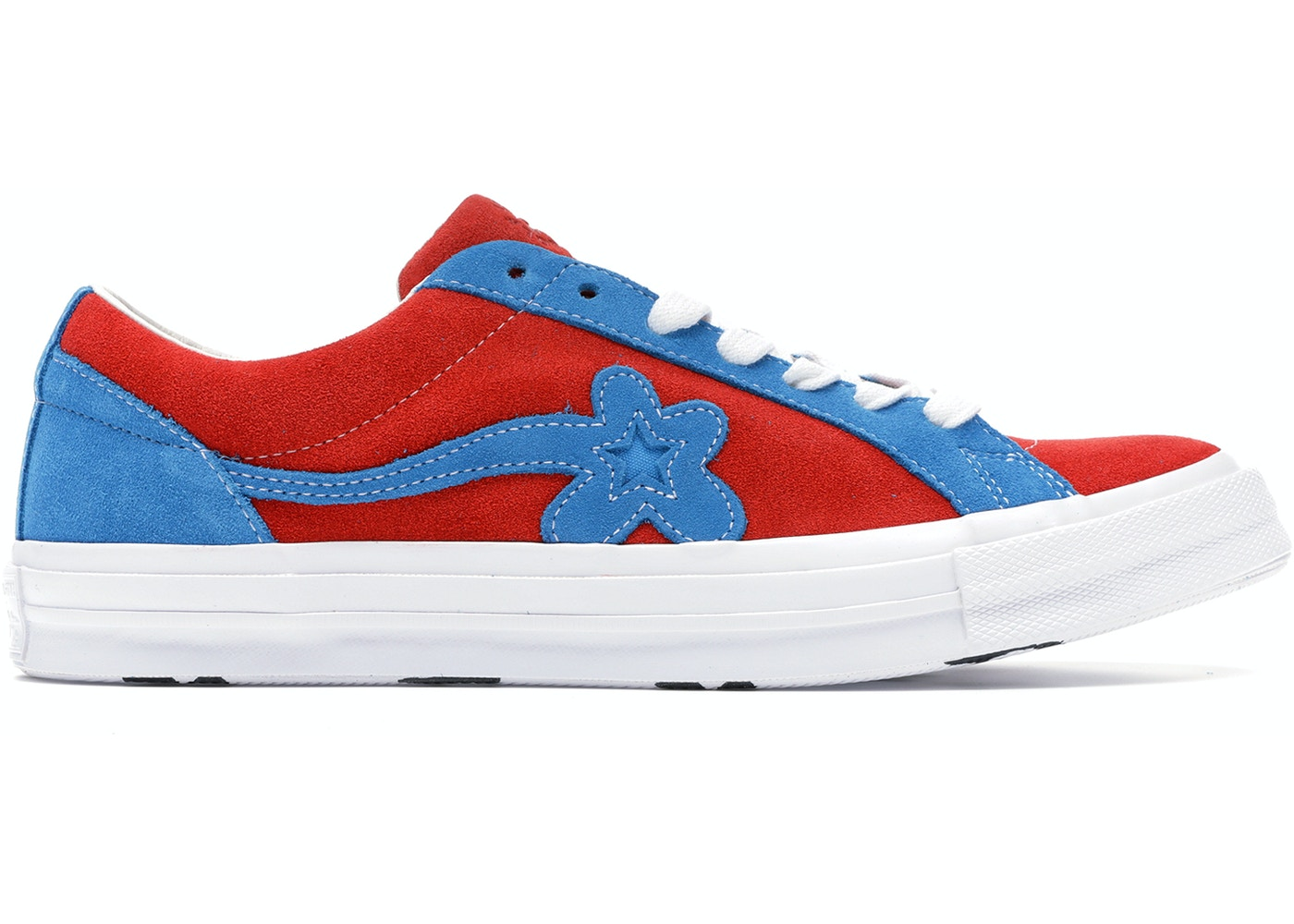 4587abc202f2 Converse One Star Ox Tyler the Creator Golf Le Fleur Red Blue - 162126C converse  x tyler golf le fleur one star blue