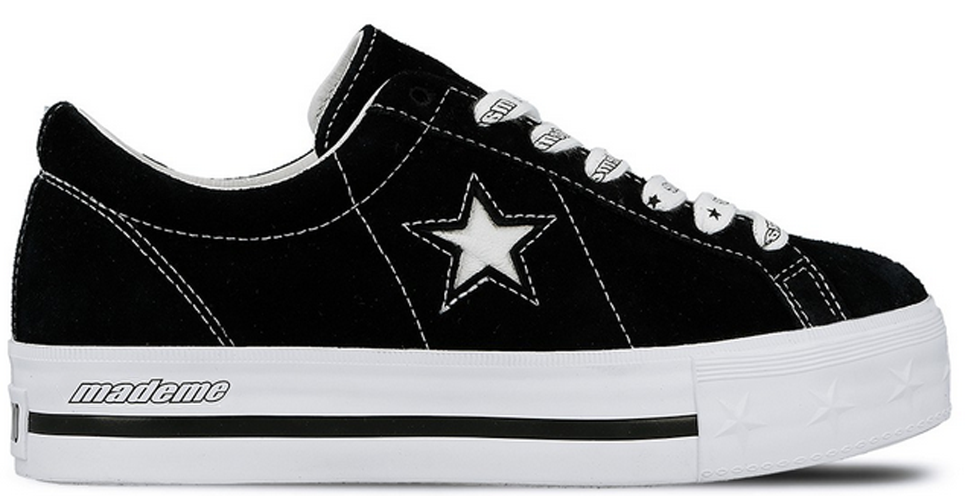 Converse One Star Platform Ox MadeMe Black (W)