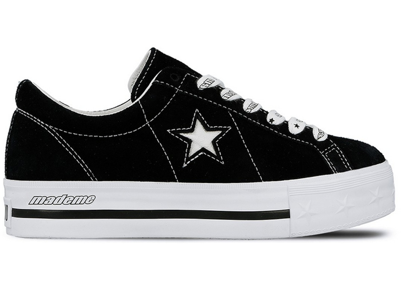 3ea7d44a391266 Converse One Star Platform Ox MadeMe Black (W) - 562959C