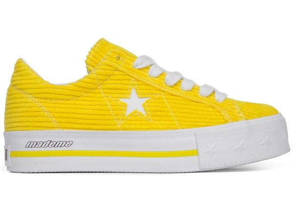Converse One Star Platform Ox MadeMe Vibrant Yellow (W