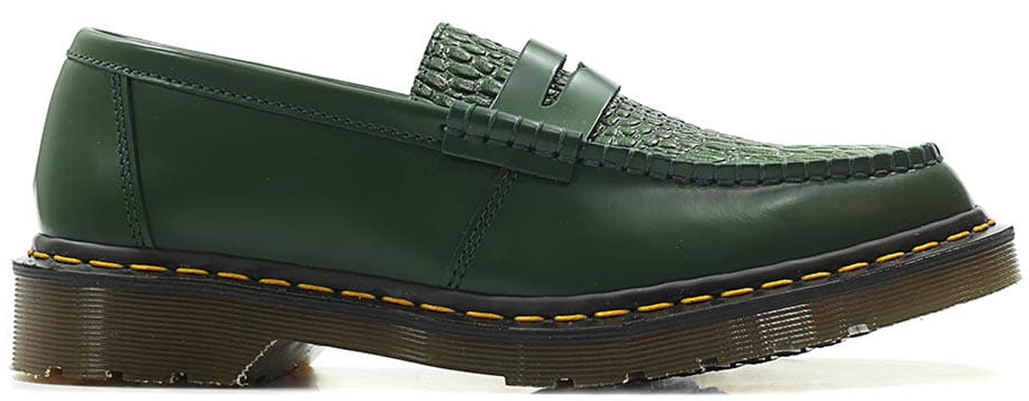 dark green doc martens