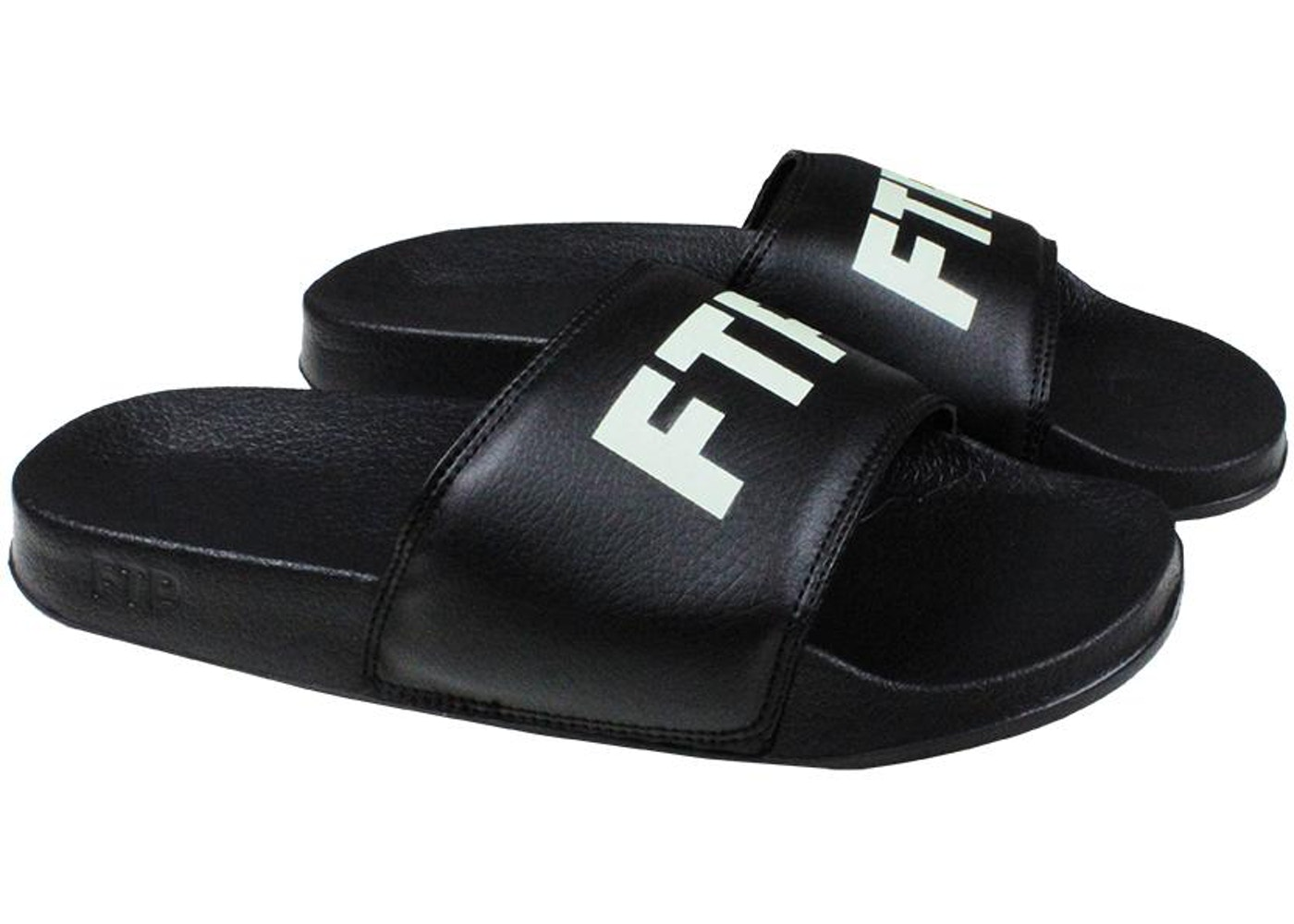 ae5cc04c FTP Logo Slide Black Glow in the Dark - Sneakers