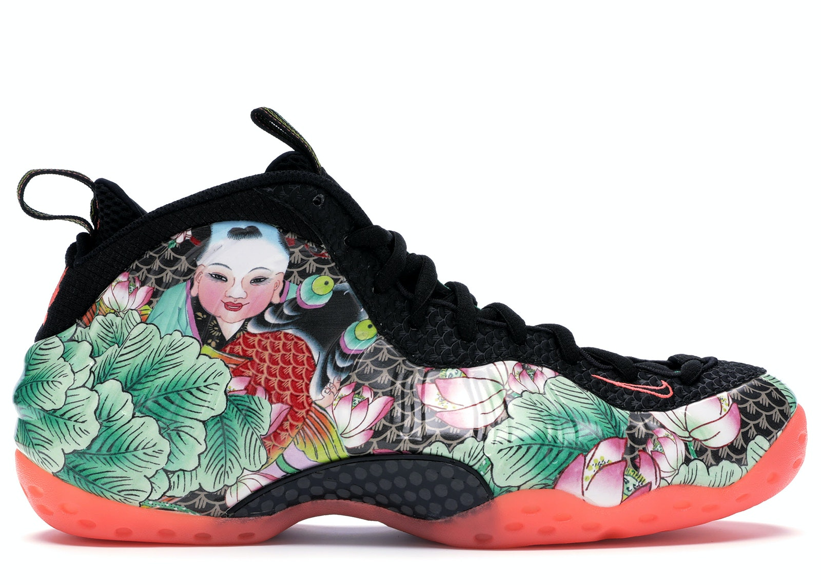Nike Air Foamposite One Habanero Red 314996 ... YouTube