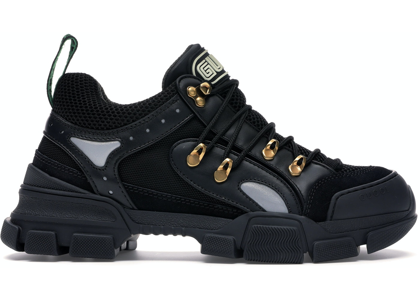 vivid and great in style cheap sale unbeatable price Gucci Flashtrek SEGA Black Leather