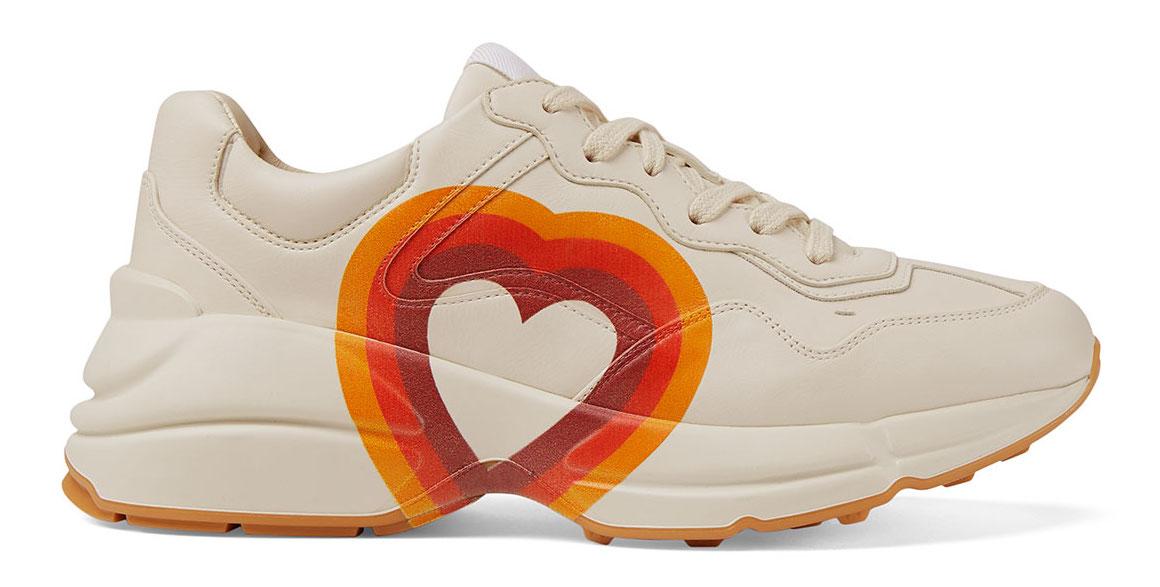 Gucci Rhyton Interlocking G Heart (W) In Ivory