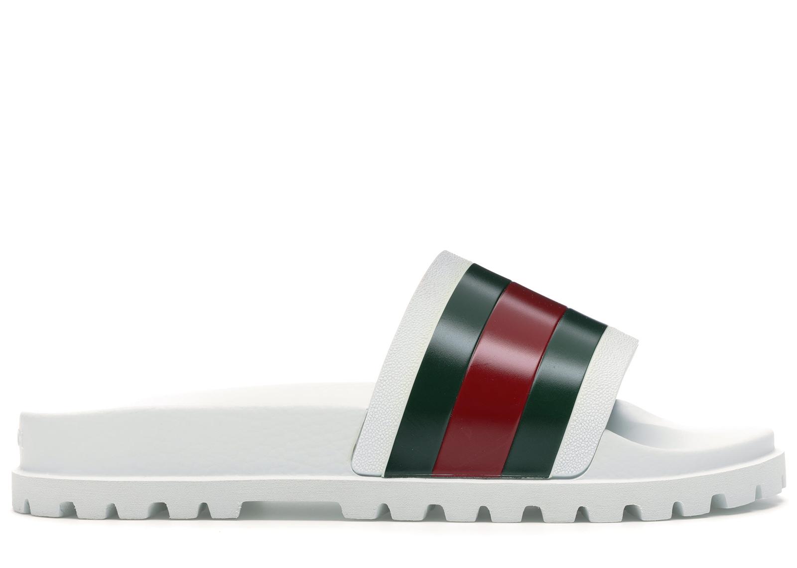 Gucci Web Slide Sandal White - 429469