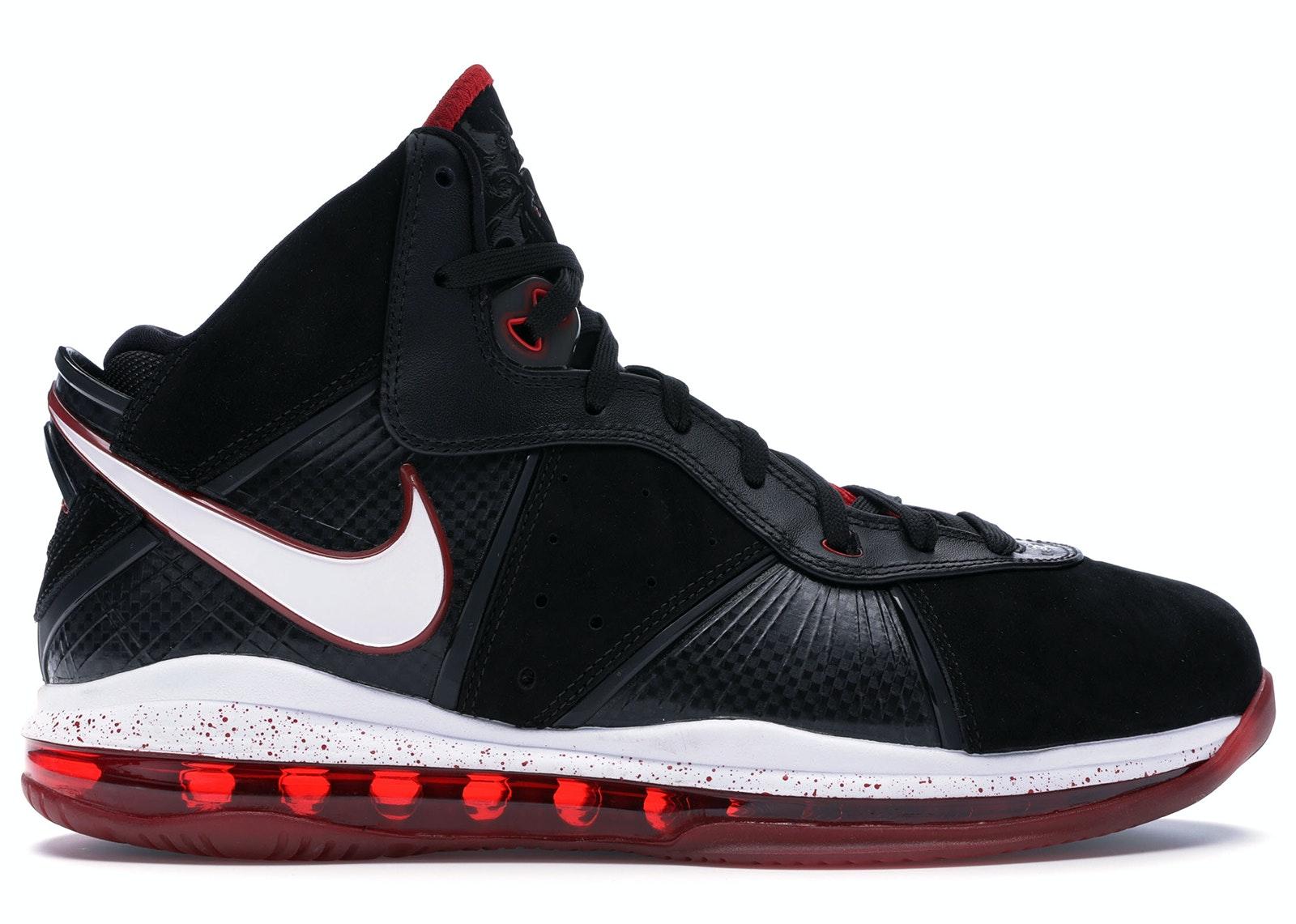 LeBron 8 Black/White/Red