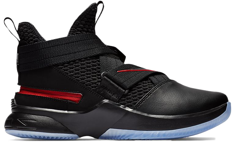 finest selection b15b7 ff95a Lebron Soldier 12 Flyease Black in Black University Red Black