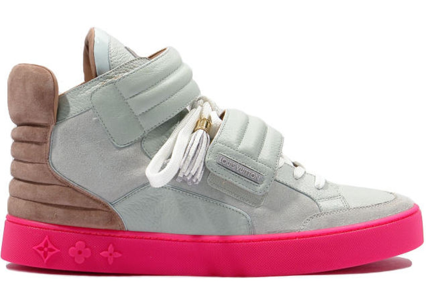 e123d135e Louis Vuitton Jaspers Kanye Patchwork Grey Pink - YP6U6PMI