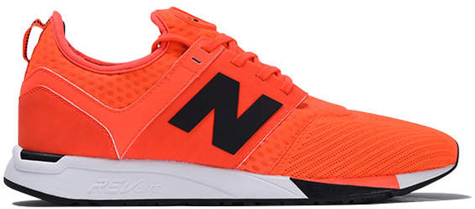 New Balance 247 Sport Orange In Orange/Black-White