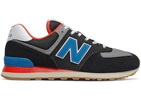 New Balance 574 Black Blue Red