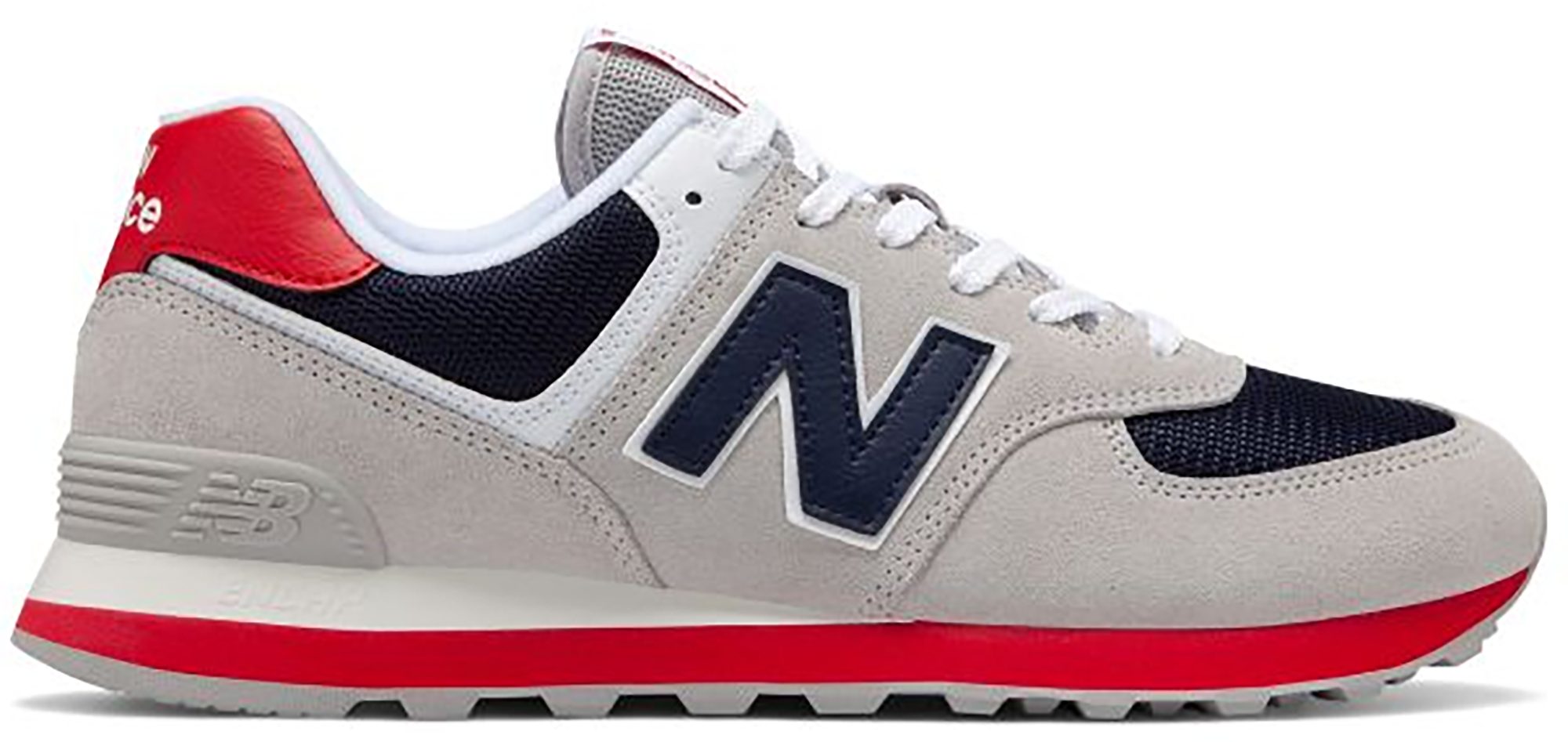 New Balance 574 Classic Grey Navy Red