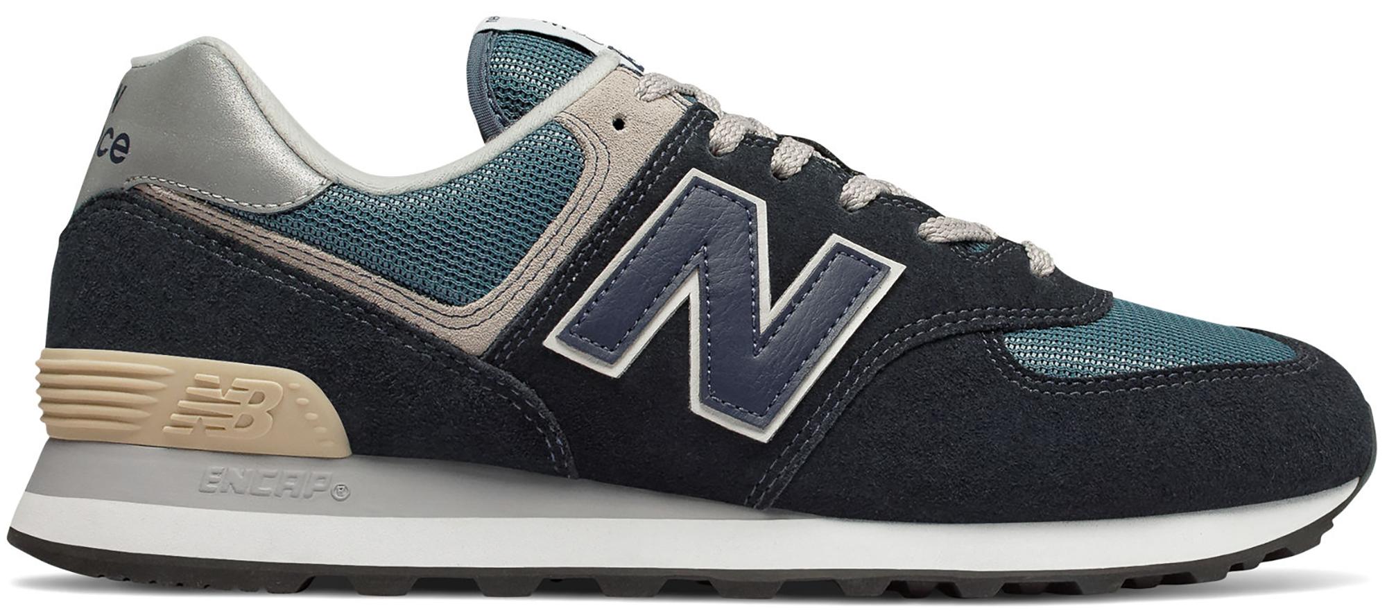 New Balance 574 Dark Navy Marred Blue