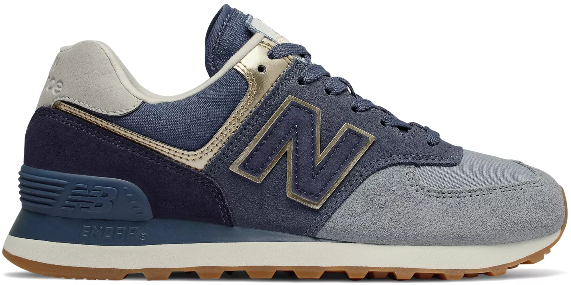 New Balance 574 Metallic Patch Blue (W