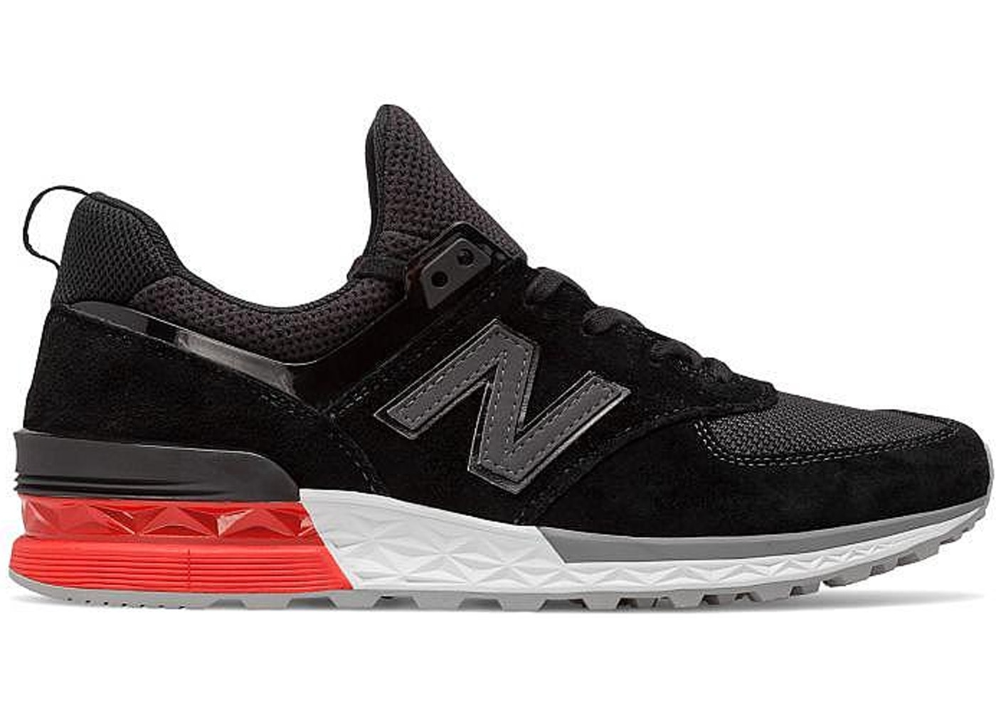 manual Biblioteca troncal Ocultación  New Balance 574 Sport Black Red - MS574AB