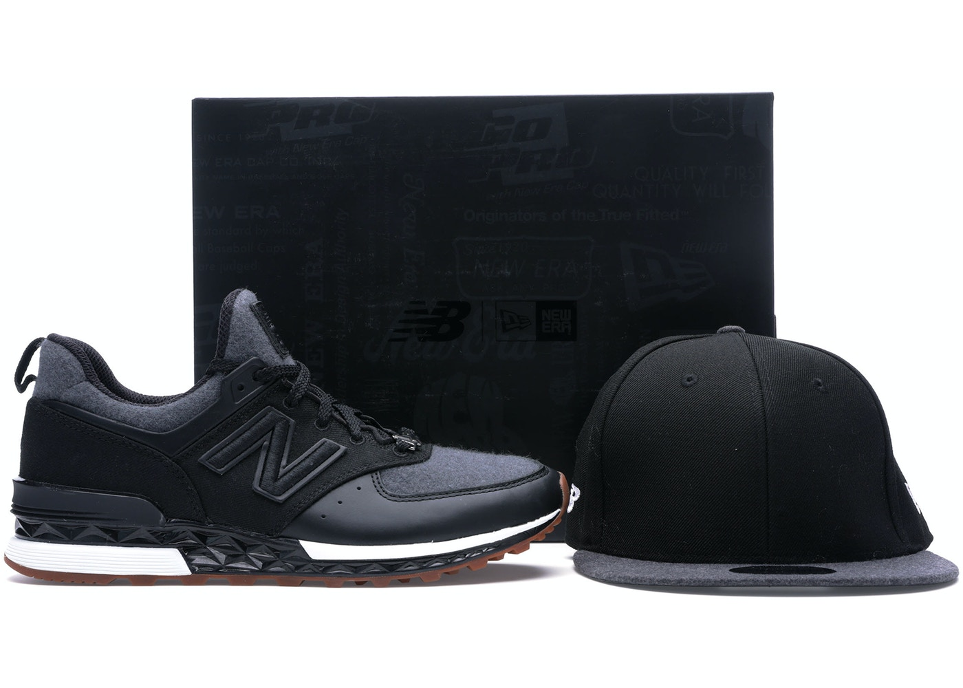 new concept 04968 071a6 New Balance 574 Sport New Era Black Grey (Special Box)