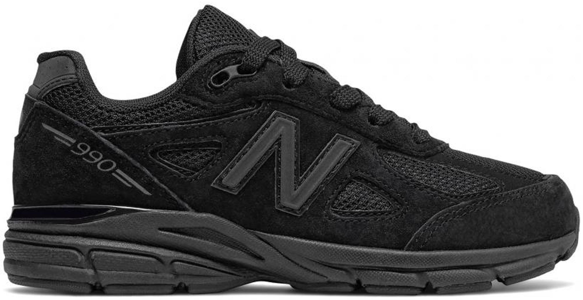 New Balance 990v4 Black (GS) - KJ990TBG