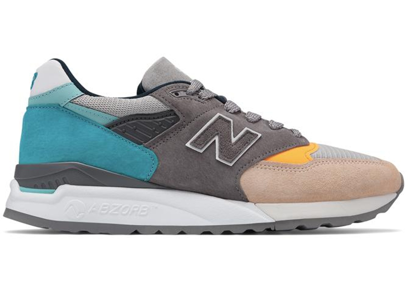 sports shoes cc6e1 a539c New Balance 998 Grey Blue Yellow
