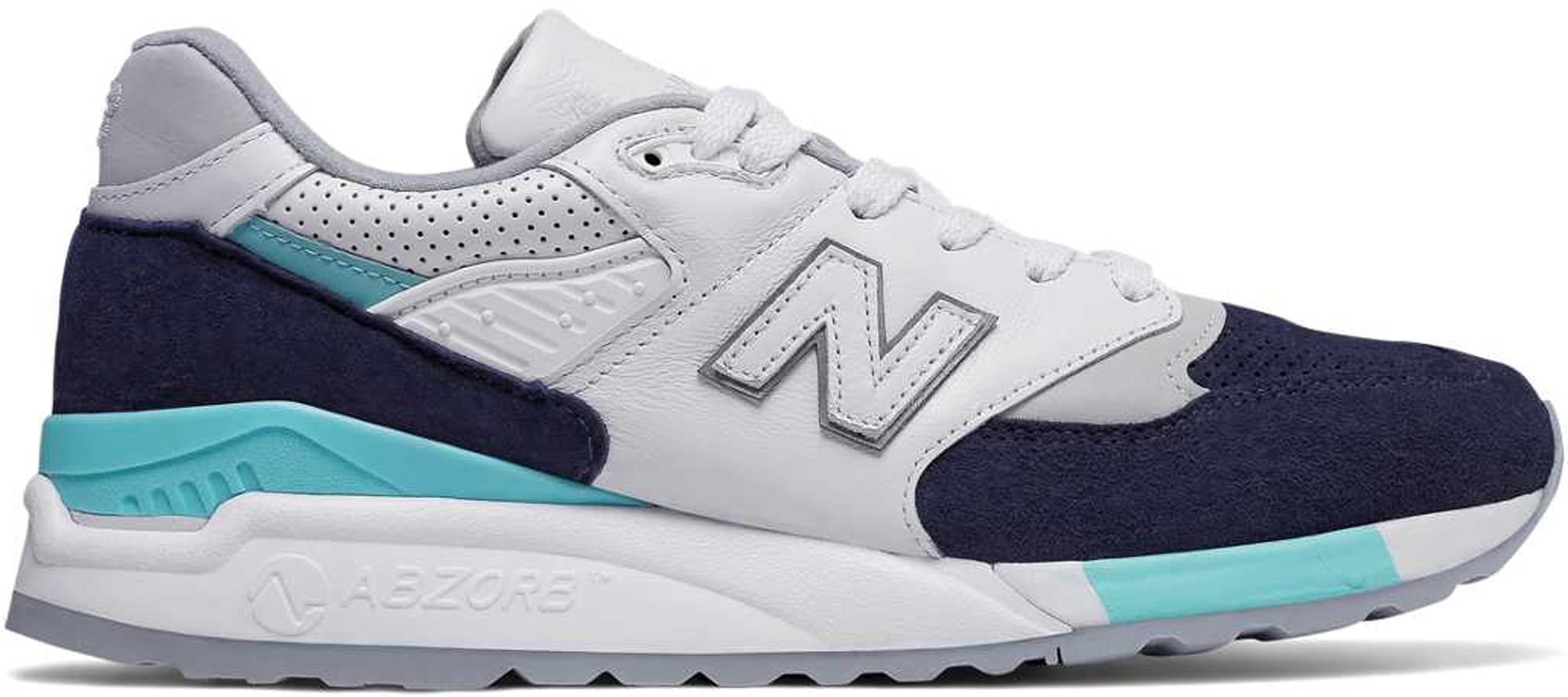 New Balance 998 Winter Peaks White Navy