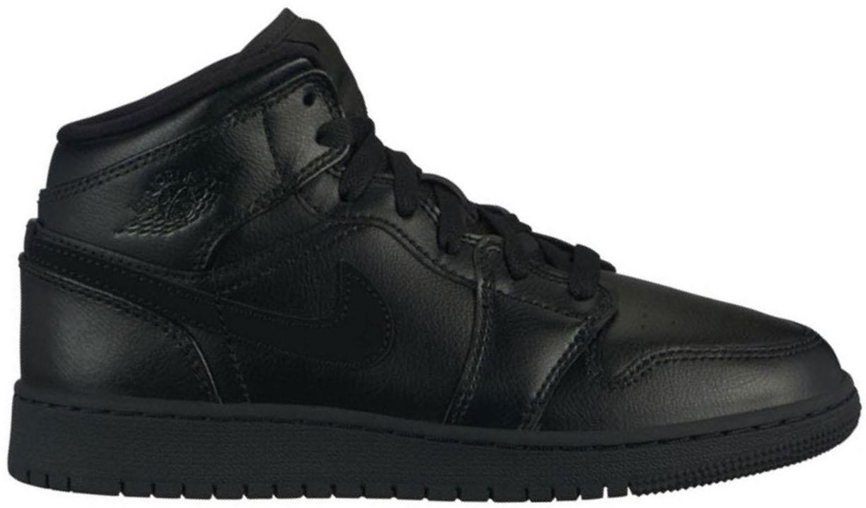 Air Jordan 1 Mid Deep Black (GS
