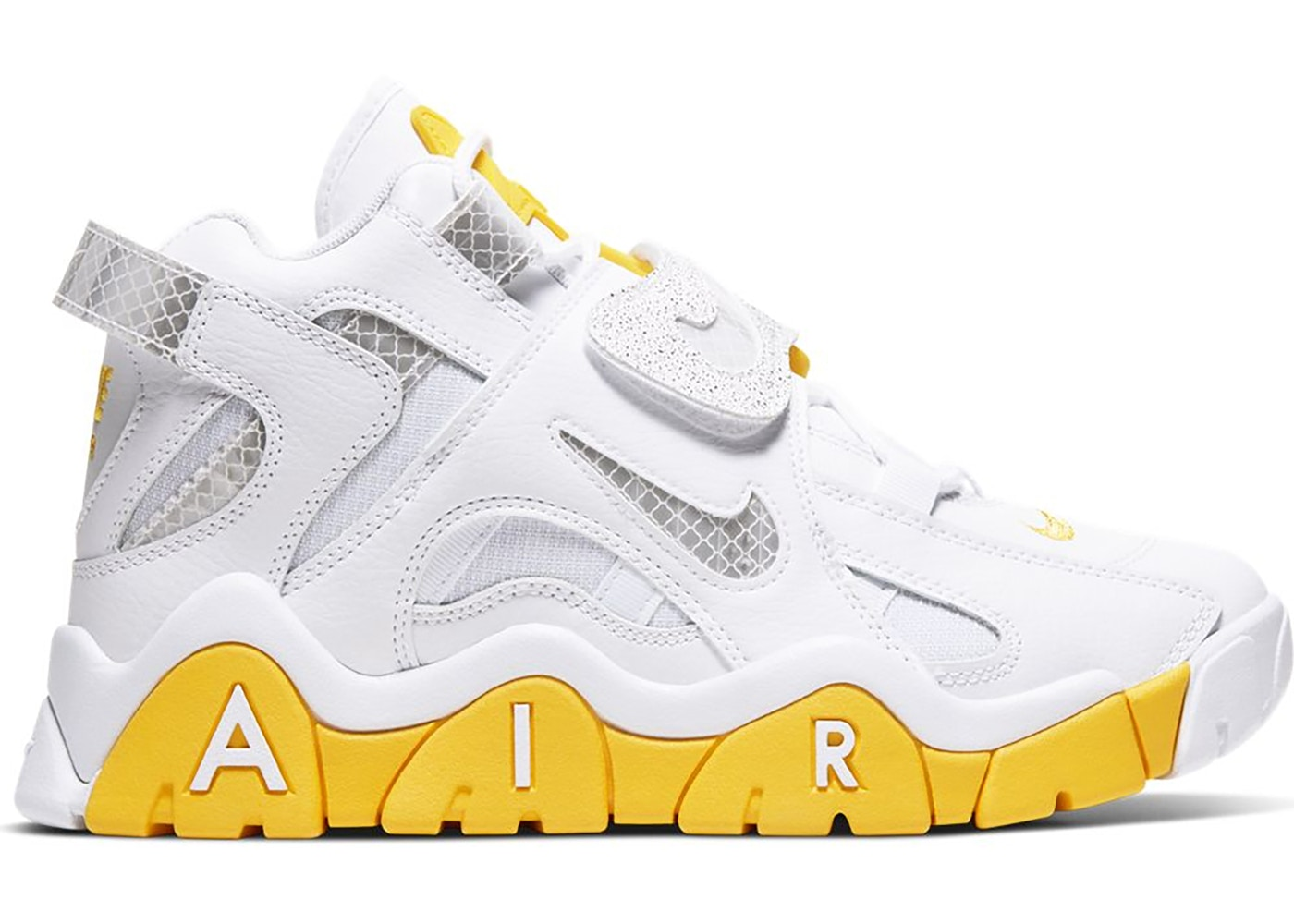 Air Barrage Mid White Chrome Yellow (W) by Stock X