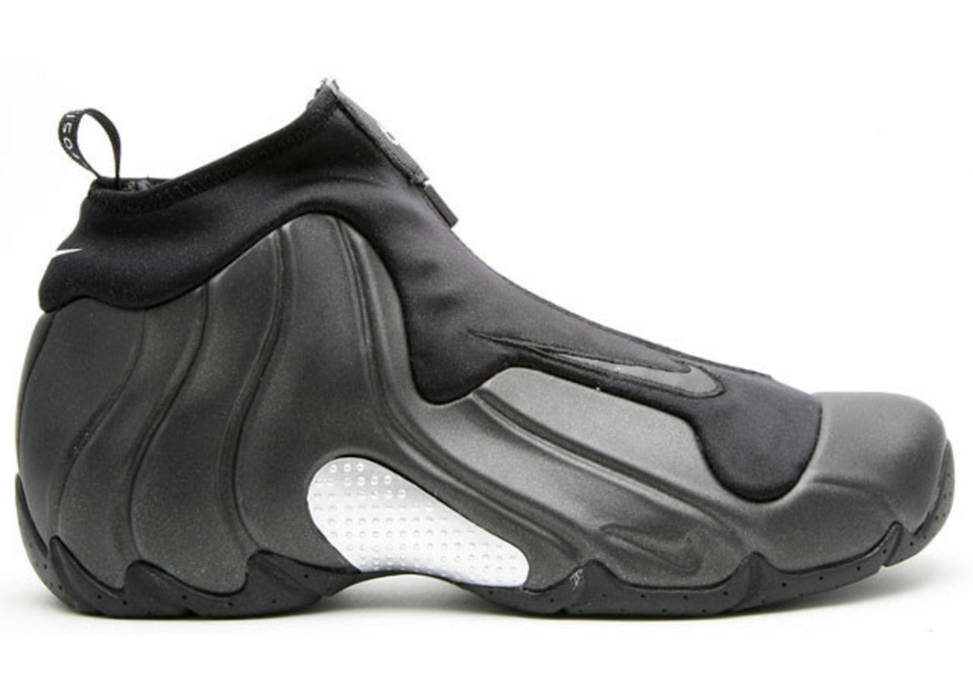 detailed look 1caf5 f0002 Air Flightposite Black Metalic Silver (2008)