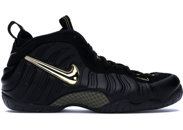 pretty nice b18a0 3e8cd Air Foamposite Pro Black Metallic Gold