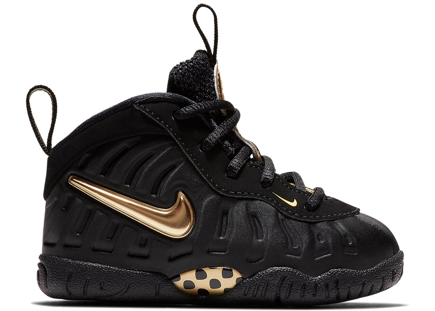 premium selection a2216 ddb9b Air Foamposite Pro Black Metallic Gold (TD)
