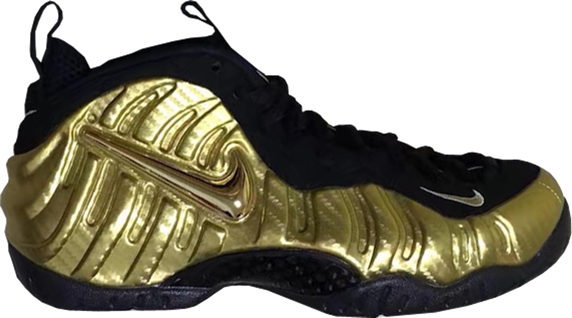 Air Nike Foamposite Pro Metallic Gold