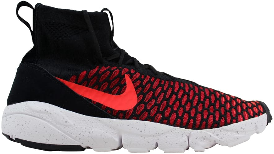 Nike Air Footscape Magista Flyknit Black/Bright Crimson-Gym Red-Cool Grey