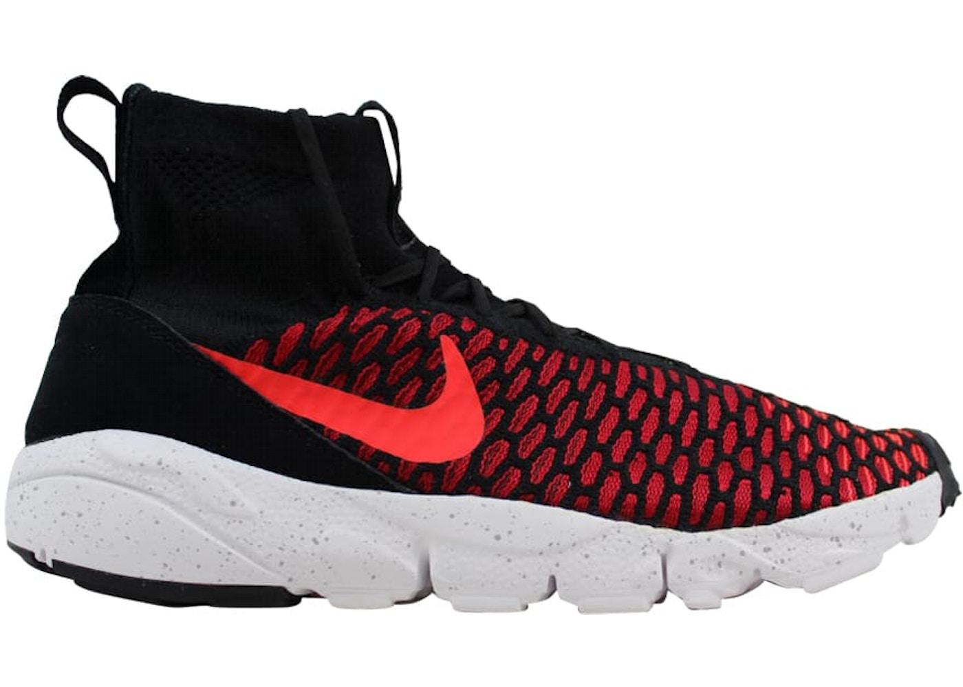timeless design 3cec9 02de7 Nike Air Footscape Magista Flyknit Black Bright Crimson-Gym Red-Cool Grey