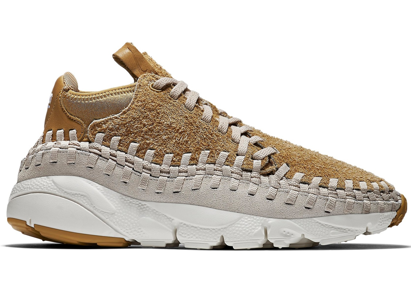 online store 3694f 7b1af Air Footscape Woven Chukka Flat Gold
