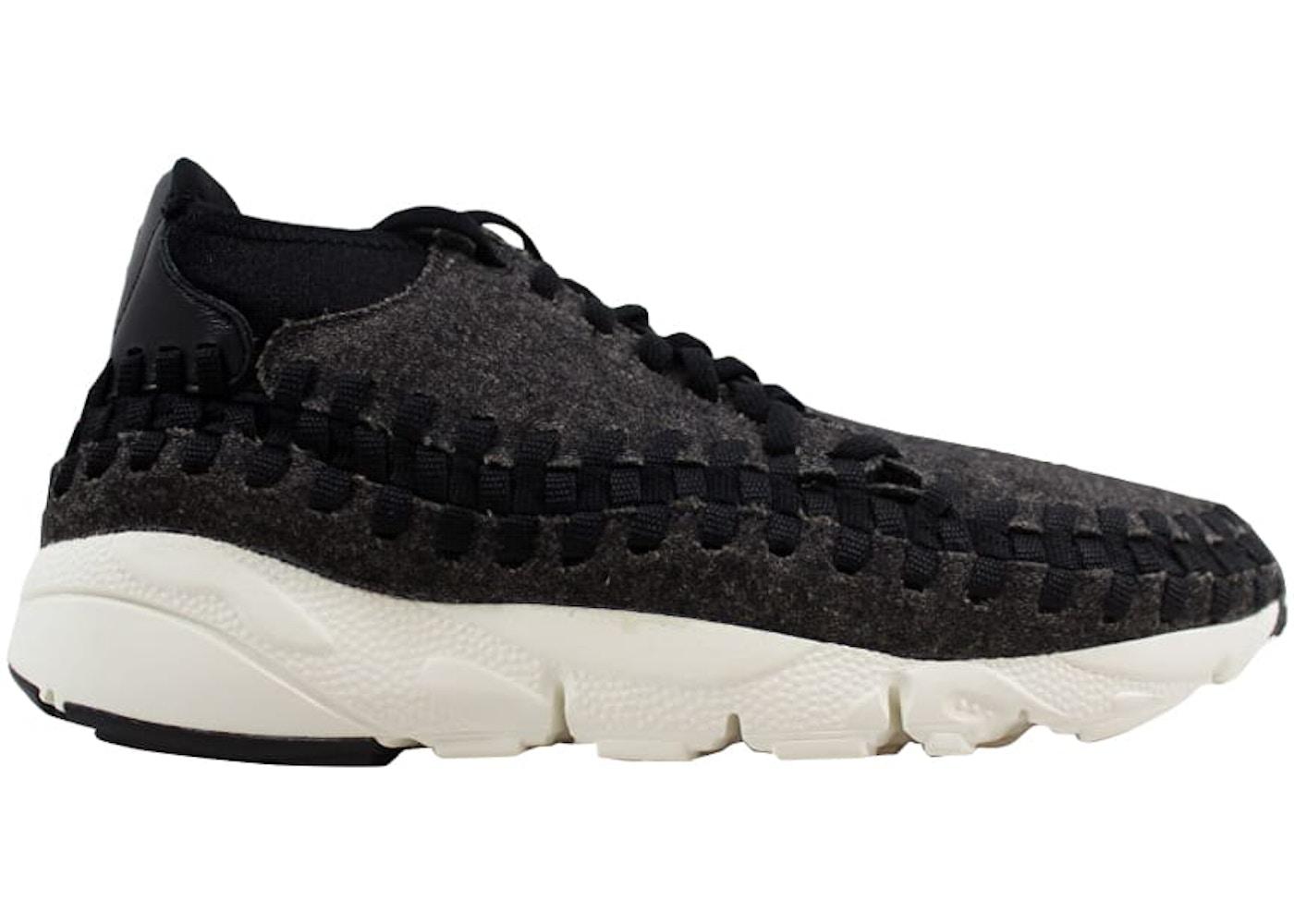 reputable site 9f980 651b7 Nike Air Footscape Woven Chukka SE Black Black-Ivory