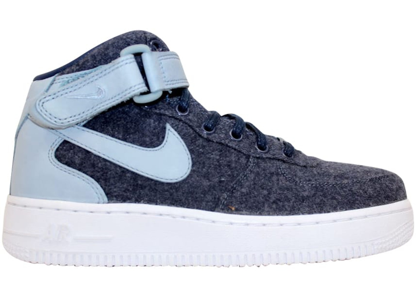 the best attitude db2e3 5b197 Nike Air Force 1 07 Mid Leather Premium Midnight Navy (W)