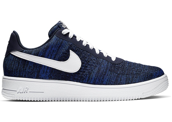 low priced 54c5e 87fbf Air Force 1 Flyknit 2 College Navy