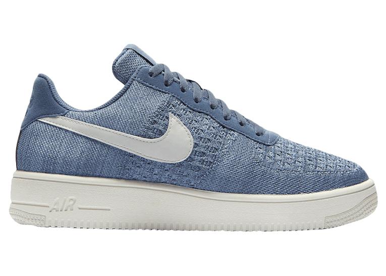 Nike Air Force 1 Flyknit blu
