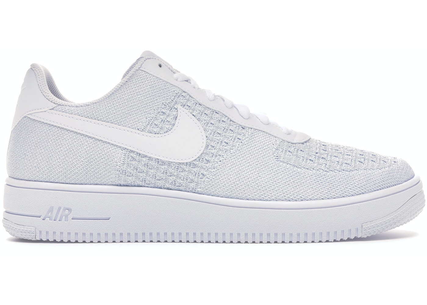 official photos 55010 f91b9 Air Force 1 Flyknit 2 White Pure Platinum