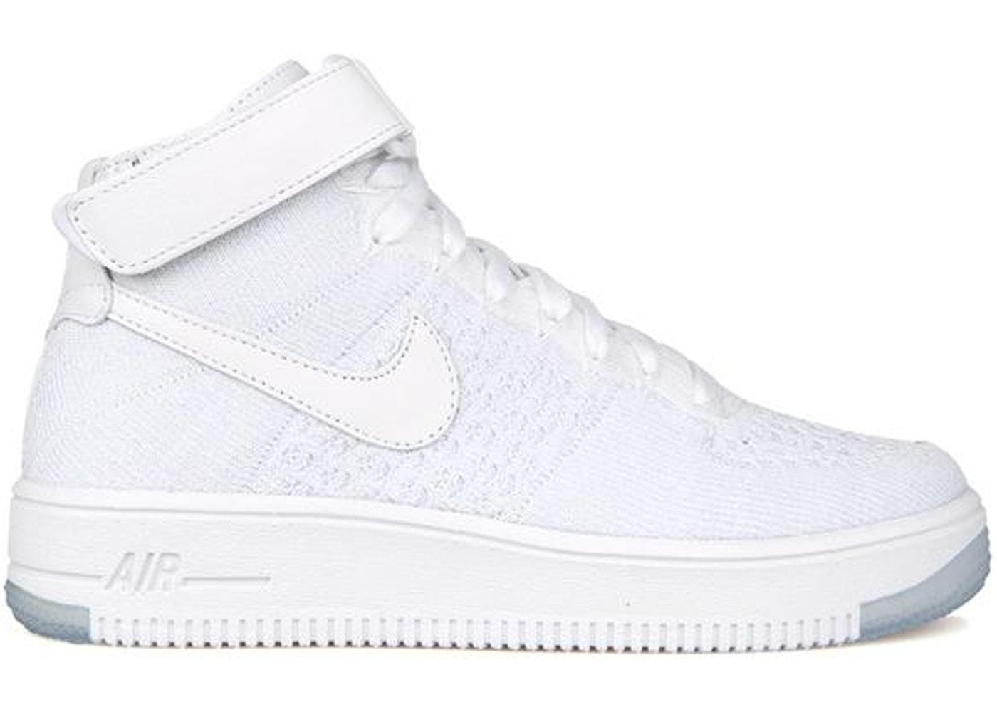 Nike Air Force 1 Flyknit Triple White (W) - 818018-100