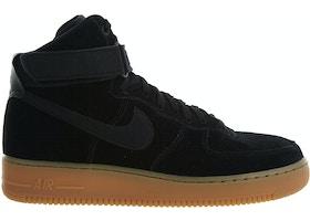 online retailer c980d f2194 Nike Air Force 1 High 07 Lv8 Suede Black Black-Gum Med Brown - AA1118-001