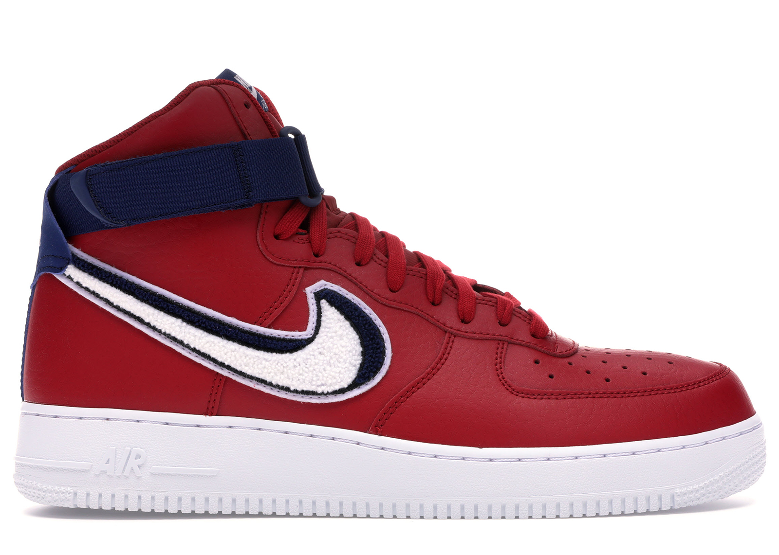 Air Force 1 High 3D Chenille Swoosh Red White Blue