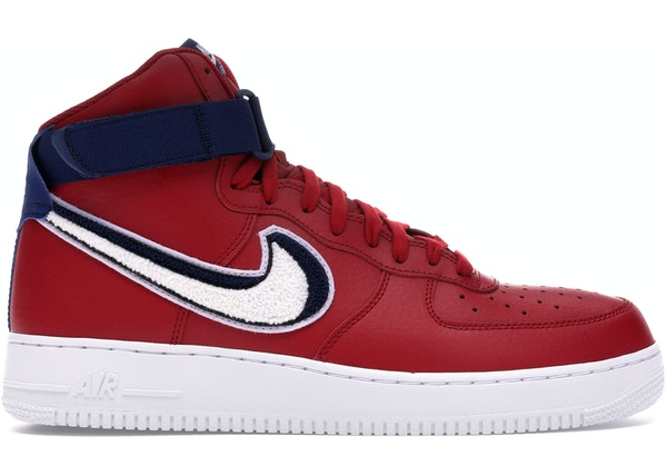new products 1c270 bfa26 Air Force 1 High 3D Chenille Swoosh Red White Blue - 806403-603