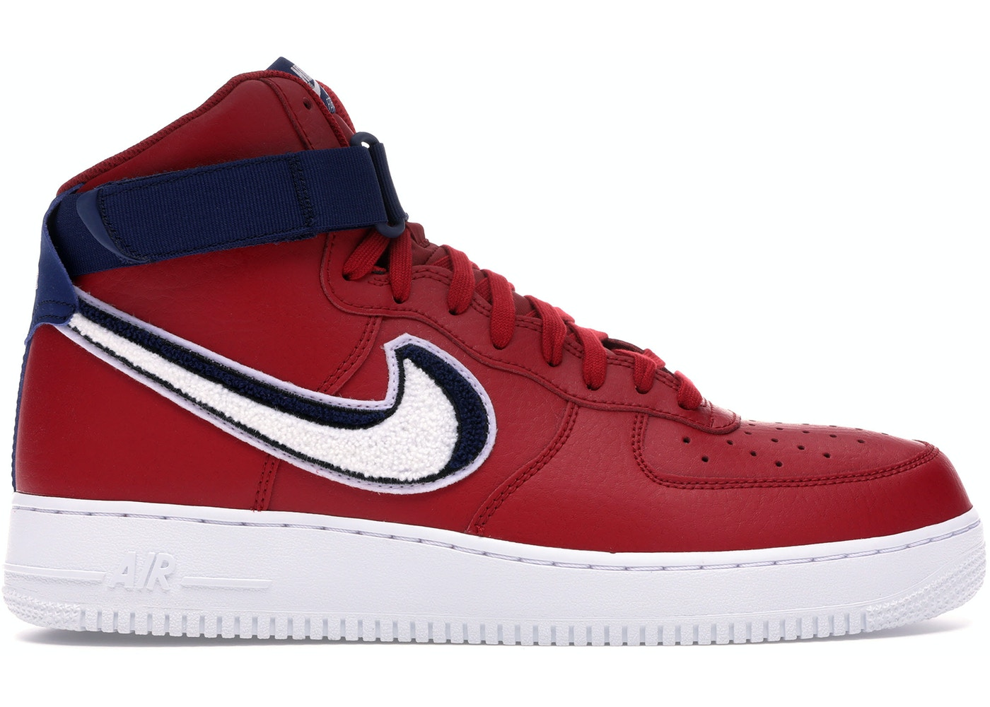huge selection of 49167 614c5 Air Force 1 High 3D Chenille Swoosh Red White Blue