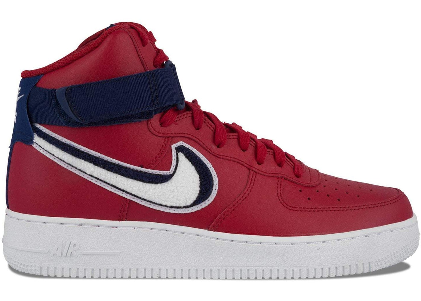 newest e4129 afa8a HypeAnalyzer · Air Force 1 High 3D Chenille Swoosh Red White Blue
