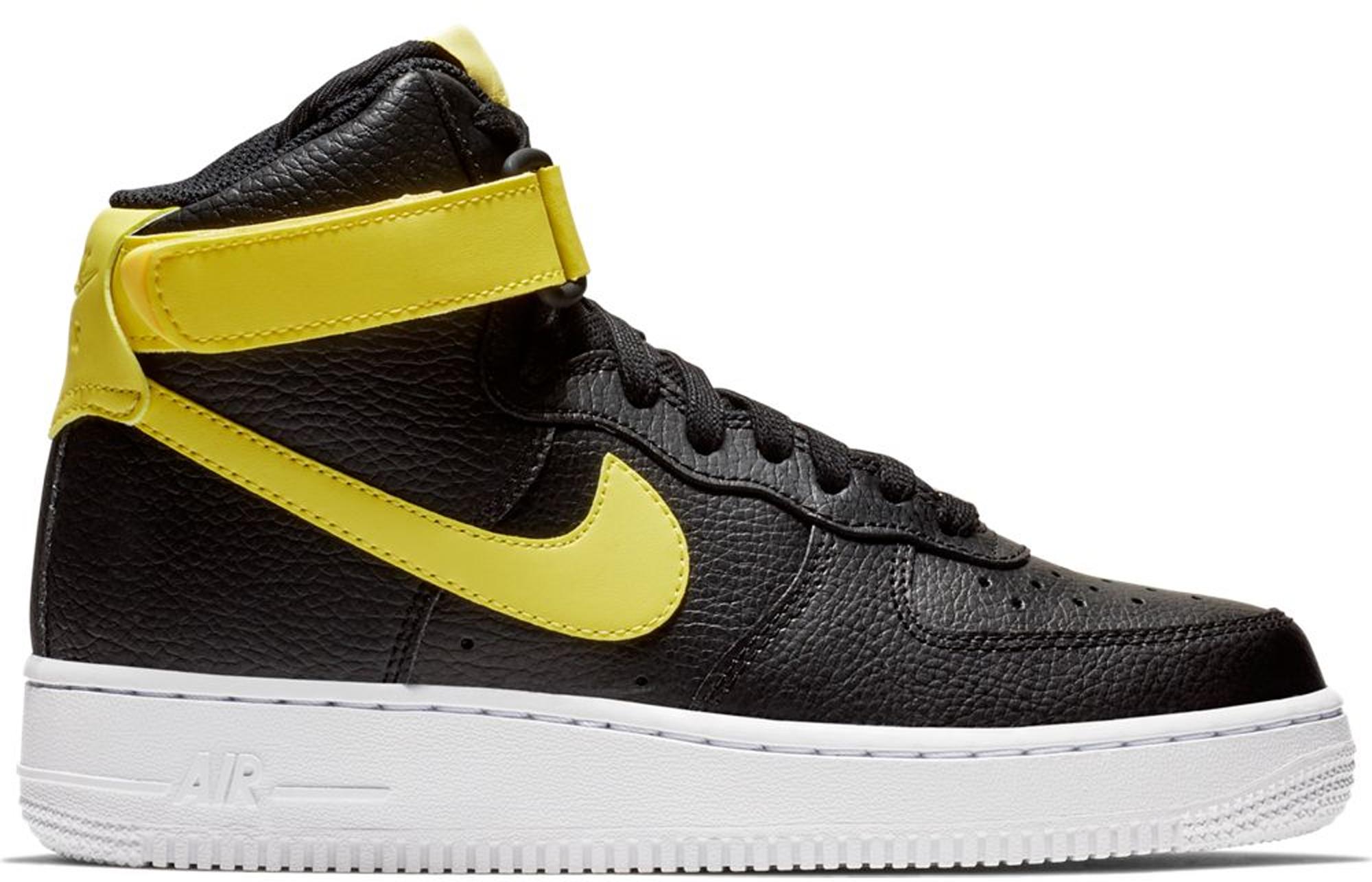 Nike Air Force 1 High Black Yellow