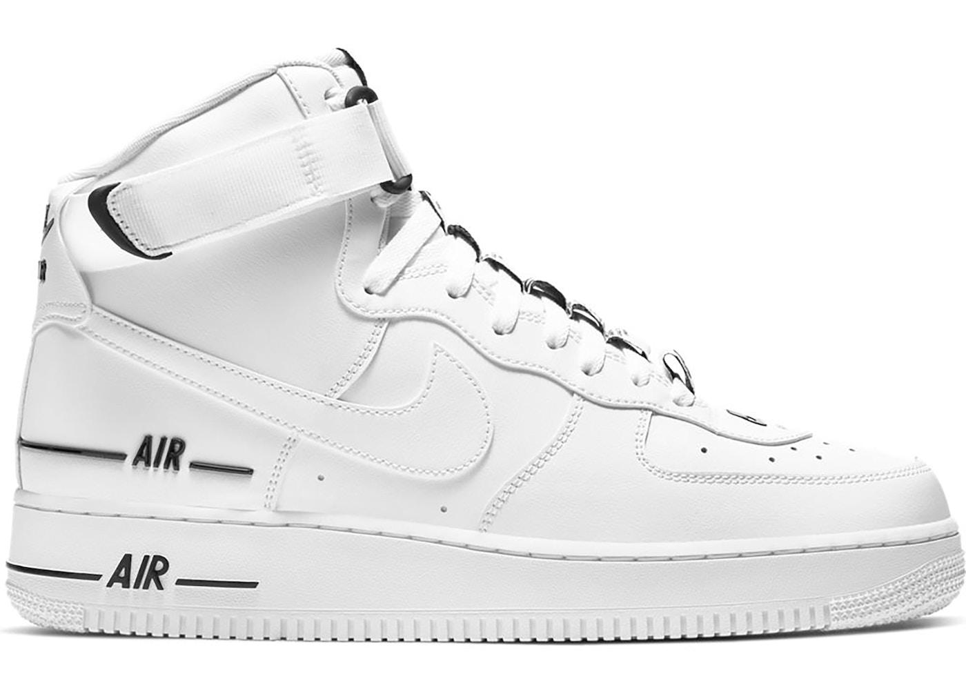 Nike Air Force 1 High Dual Air White Black Cj1385 100