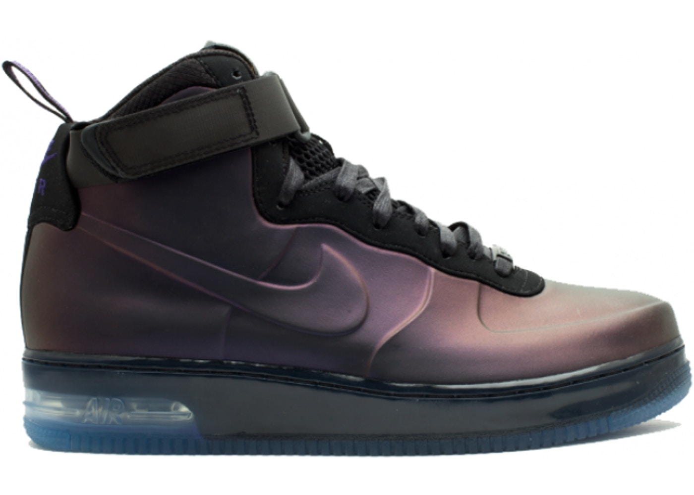 best sneakers 83c2f 3bac1 Air Force 1 High Foamposite Eggplant - 415419-550